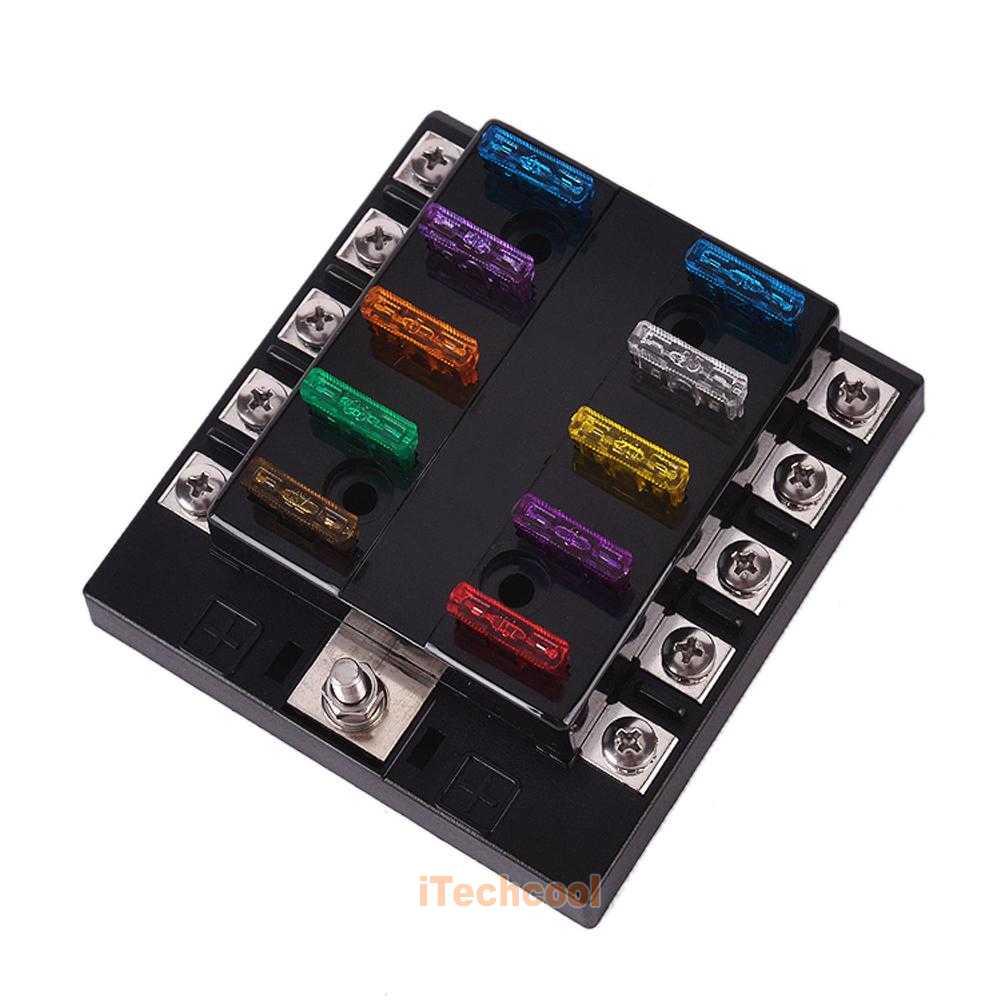 Way terminals circuit boat car auto blade fuse box