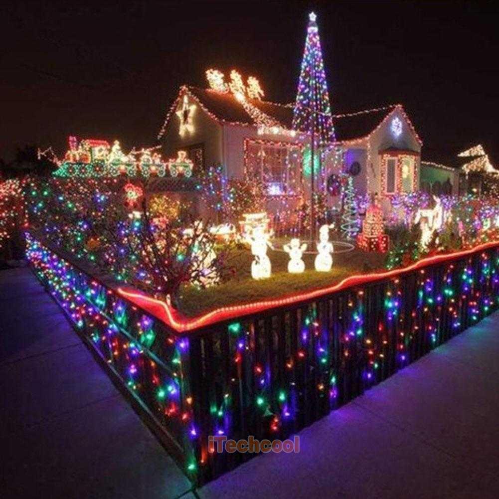 solar power fairy light string strip lamp party xmas garden outdoor