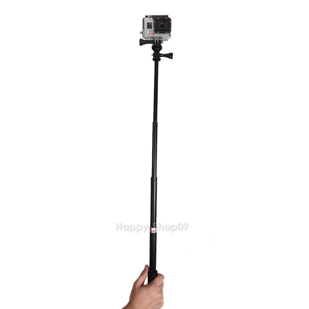 telescoping extendable pole handheld tripod mount selfie stick for gopro 3 2. Black Bedroom Furniture Sets. Home Design Ideas