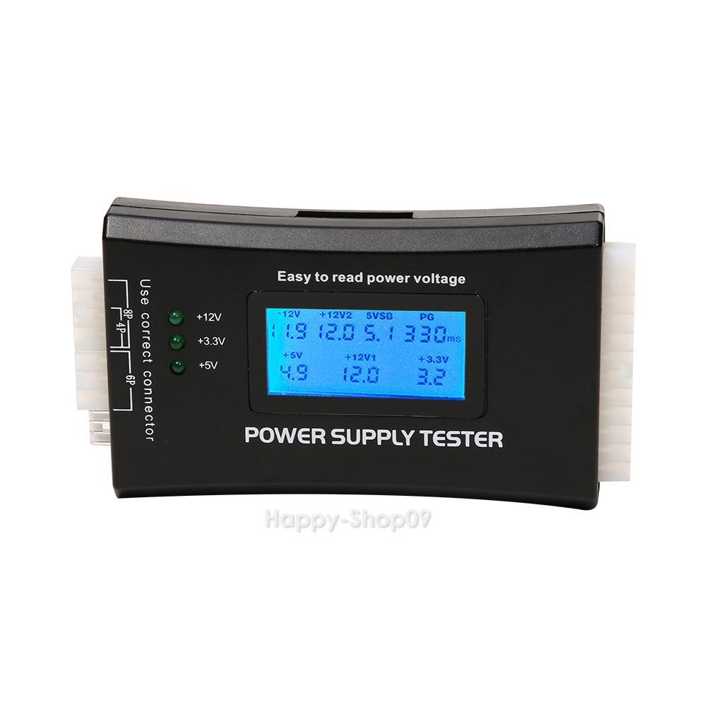 Power Supply Tester : Digital lcd computer pin power supply tester atx btx