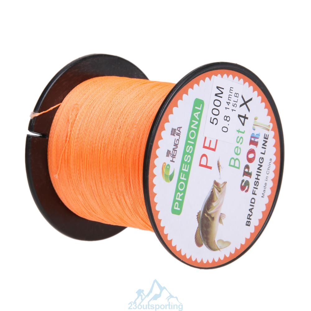 Super power 500m dyneema spectra pe braided fishing line for Spectra fishing line