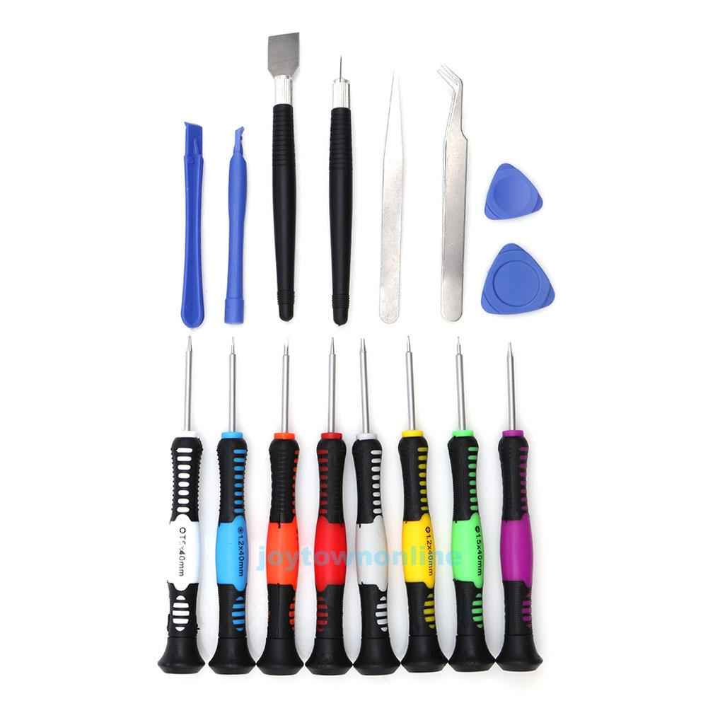 16 in 1 mobile opening repair tools screwdriver set kit for ipad iphone pda i. Black Bedroom Furniture Sets. Home Design Ideas